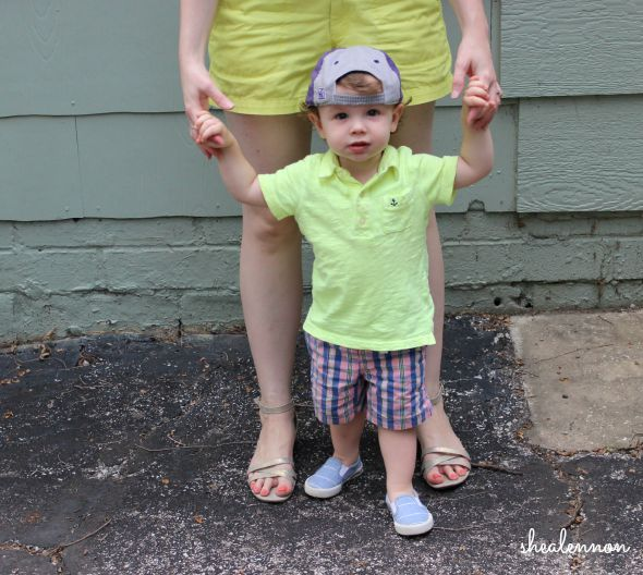 neon yellow toddler boy look | www.shealennon.com