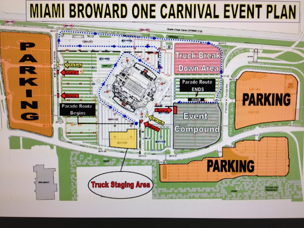 Miami Broward Carnival Route
