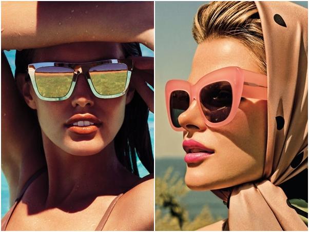 Óculos Diferentes Tendência Todo Espelhado Verão Rosa
