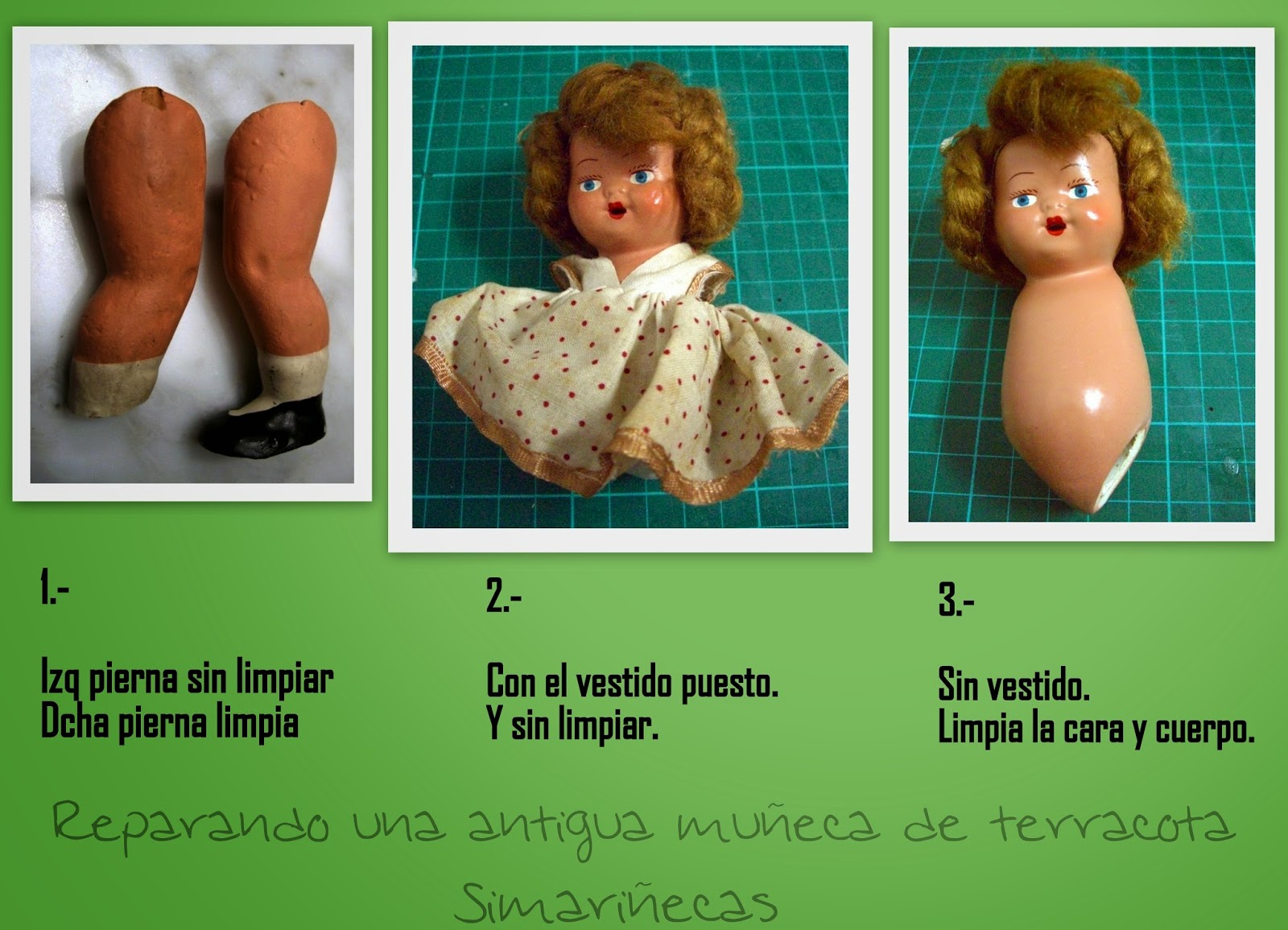 reparar una muñeca antigua-