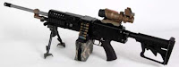 LSAT light machine gun LMG