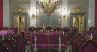 Salón de plenos Tribunal Supremo