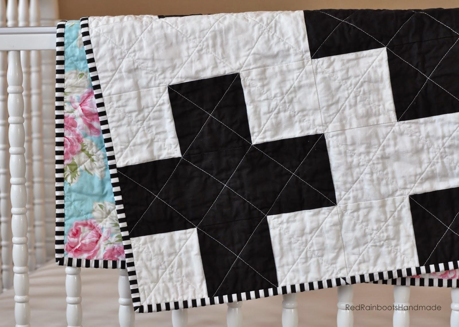 http://redrainbootshandmade.blogspot.com/2015/01/baby-quilts.html