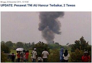 UPDATE NEWS: Pesawat Tempur Golden Eagle (T-50i) Milik TNI AU Hancur Terbakar