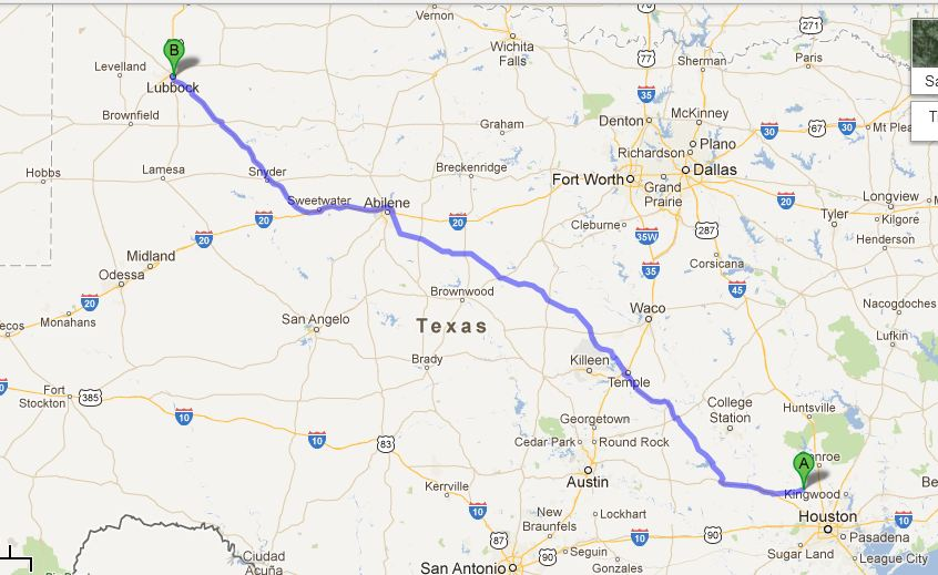 August 29th  Tomball To Lubbock  Adventures In The Crowe