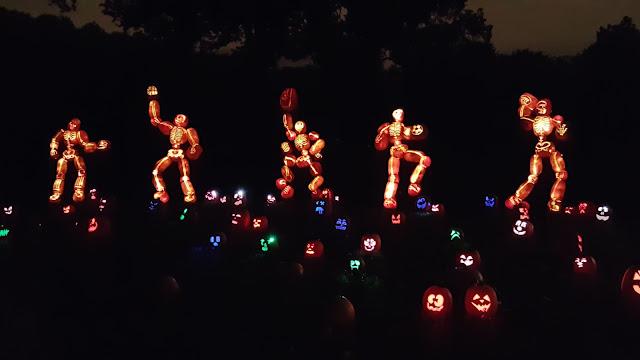 Football Players Jack O'Lanterns