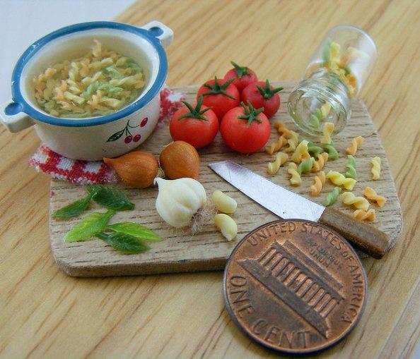 Shay Aaron, miniature food sculptures, food sculptures