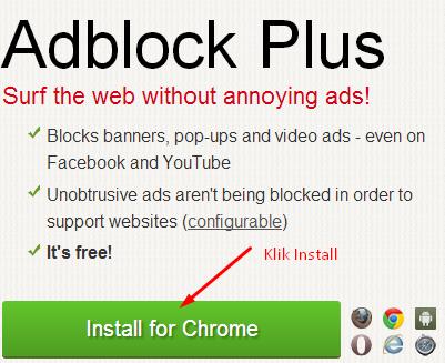 Cara Mudah Menghilangkan Iklan Pada Blog Atau Website di google chrome