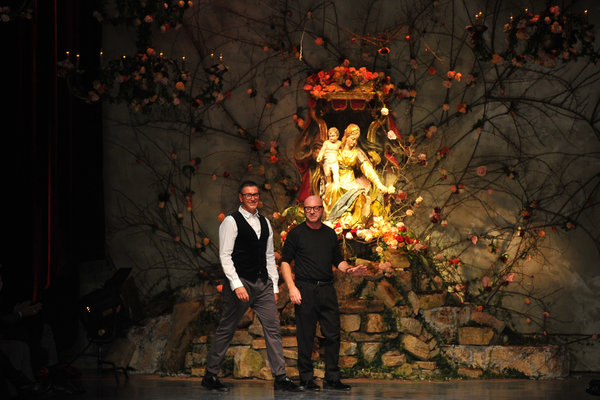 Stefano Gabbana and Domenico Dolce at their fall 2013 menswear presentation