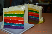 Italian@ fresh cream  Rainbow cake RM80.00 +-2 kgs 1/2 recipe RM45