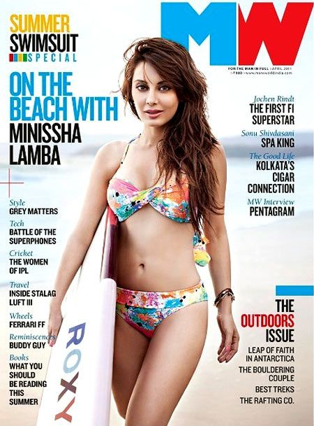 Minissha Lamba shed her girl-next-door image and clothes for a sexy shoot as ...