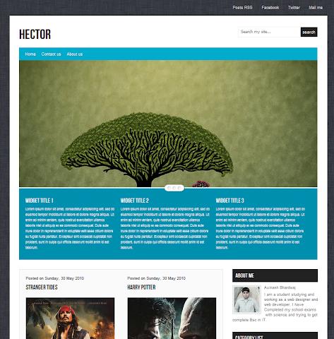 Hector Blogger Theme