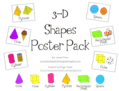 worksheets for 3-d shapes