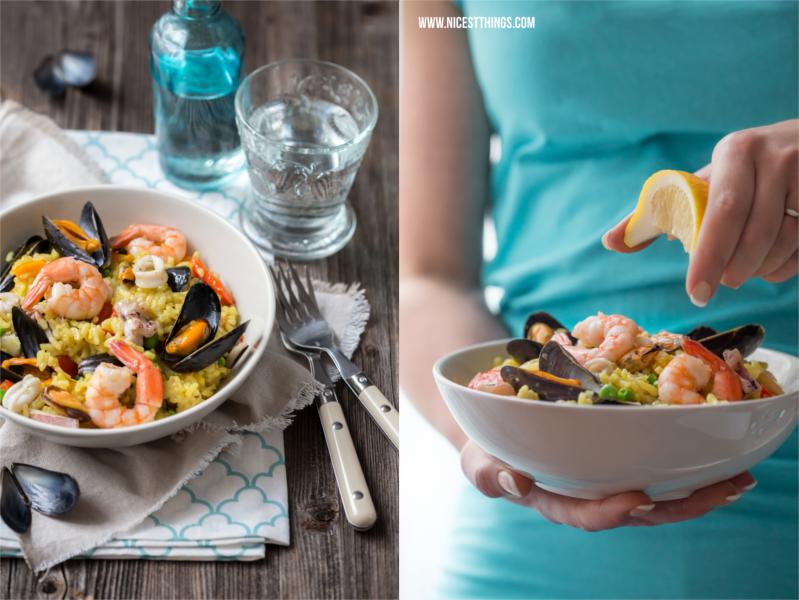 Paella Rezept einfach mit Meeresfrüchten