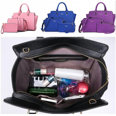 MULTI FUNCTION BAG ( 3 IN 1 SET ) - PINK , PURPLE , BLUE