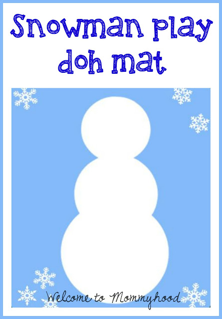 Playdough Activities: Winter snowman play doh mat printable by Welcome to Mommyhood #freeprintables, #playdoughactivities, #homeschool, #preschoolactivities, #finemotoractivities
