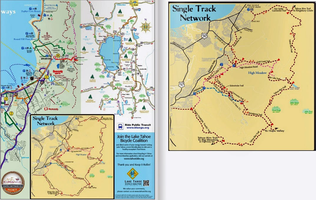 Updated Lake Tahoe Bikeway Maps available