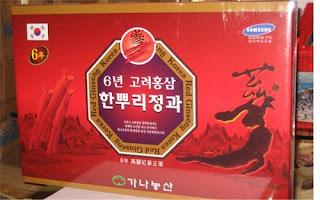 Hồng sâm Hàn Quốc 6 tuổi mật ong