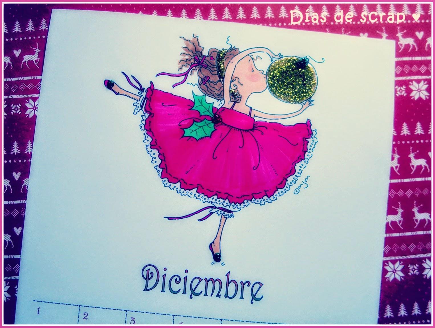scrap calendario diciembre mo's digital pencil