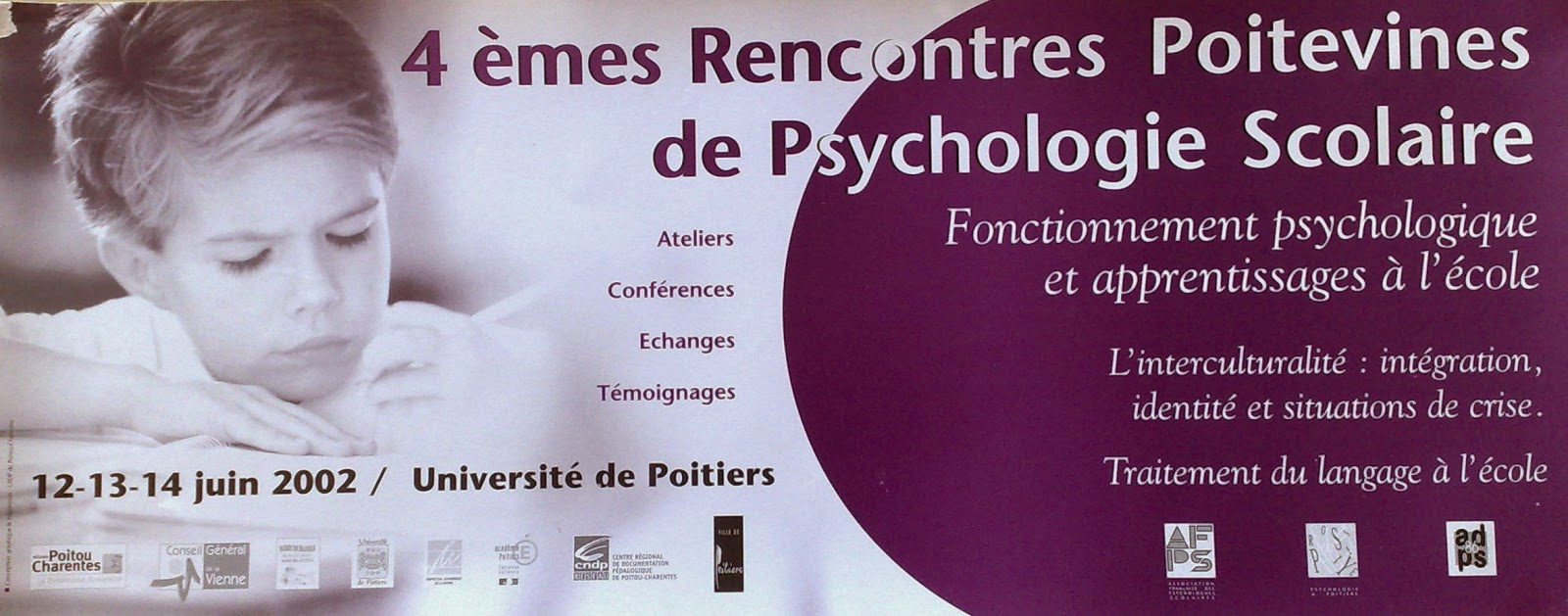 Rencontres poitevines psychologie scolaire 2016