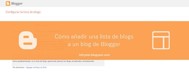 Cómo añadir una lista de blogs a un blog de Blogger