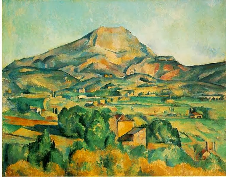 "Picture of ""Mont Sainte-Victoire seen from Bellevue"" by Paul Cezanne, 1895"