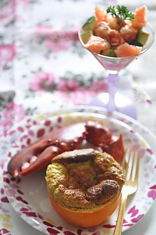 D lices et caprices souffl de pamplemousse et une tuerie - Comment couper un homard cuit en deux ...
