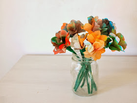 How to Make coffee filter flowers (for kids)