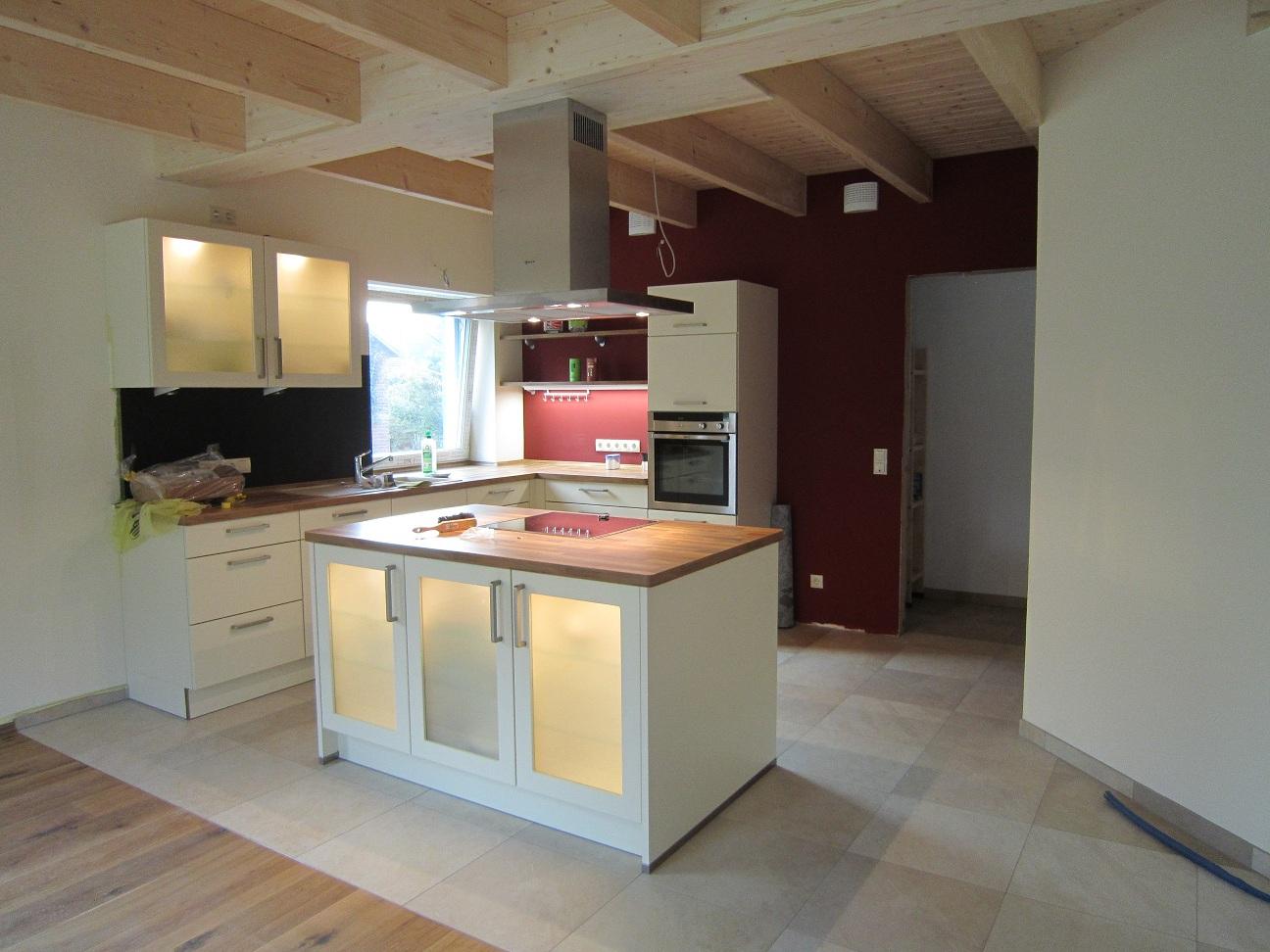 Bautagebuch eines Passivhauses: Küche da