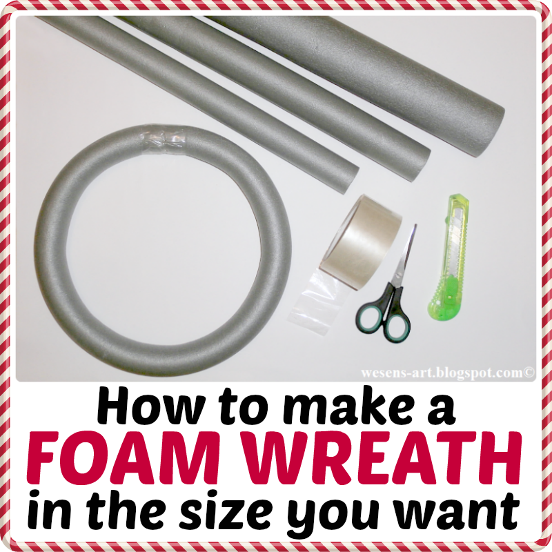 DIY Foam Wreath  wesens-art.blogspot.com