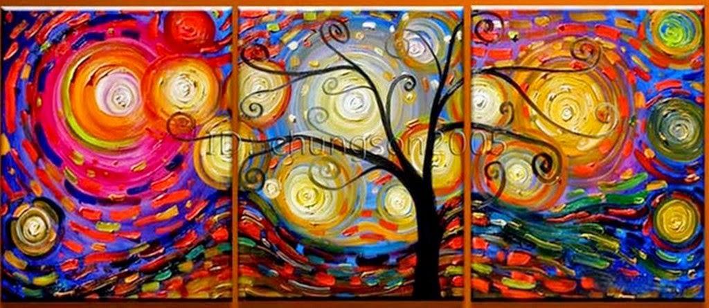 Cuadros modernos pinturas y dibujos paisajes f ciles con for Imagenes de cuadros modernos