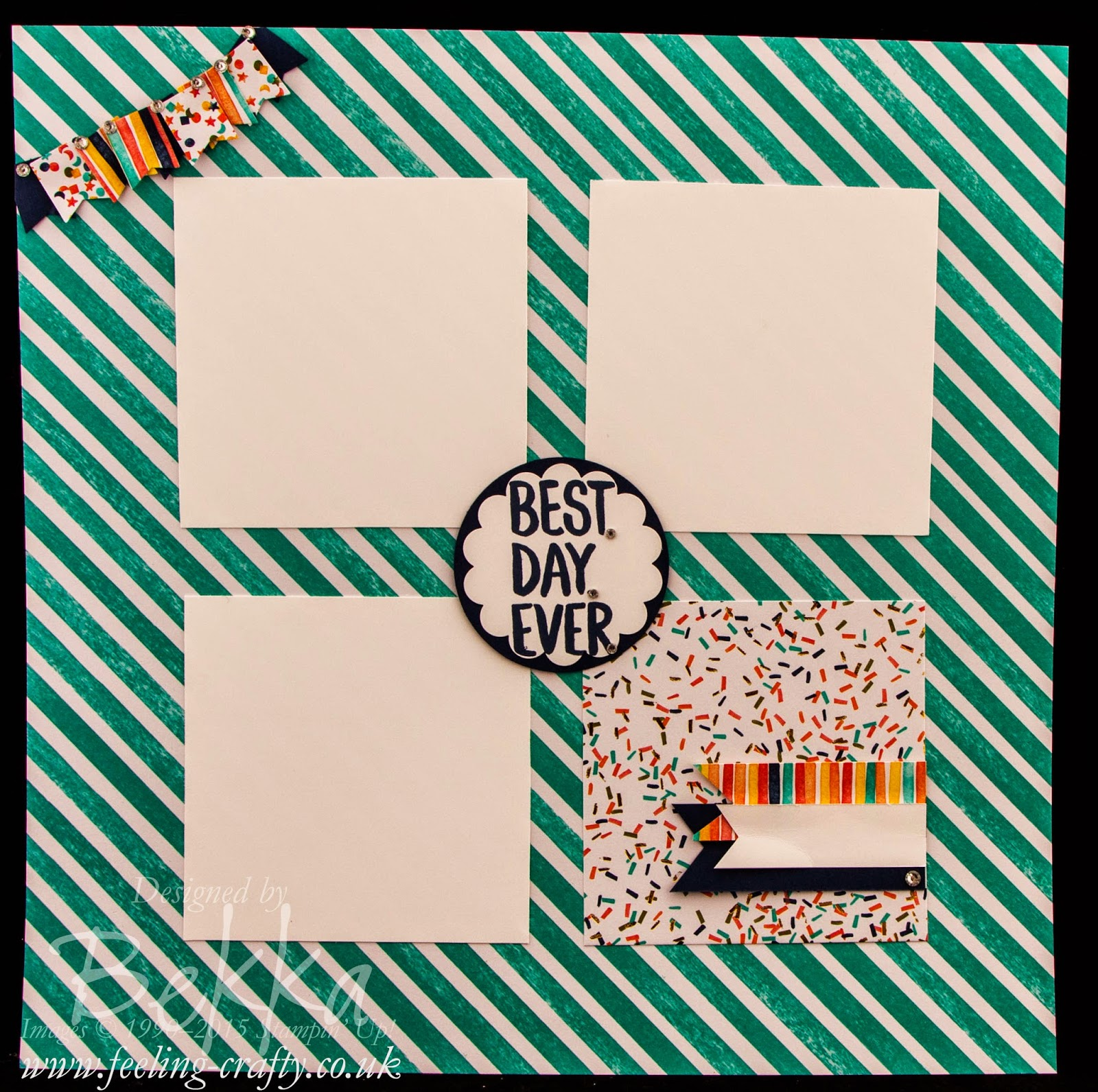 Best Day Ever / Birthday Bash Scrapbook Start Point Page - Ideal for Instagram Photos - check it out here