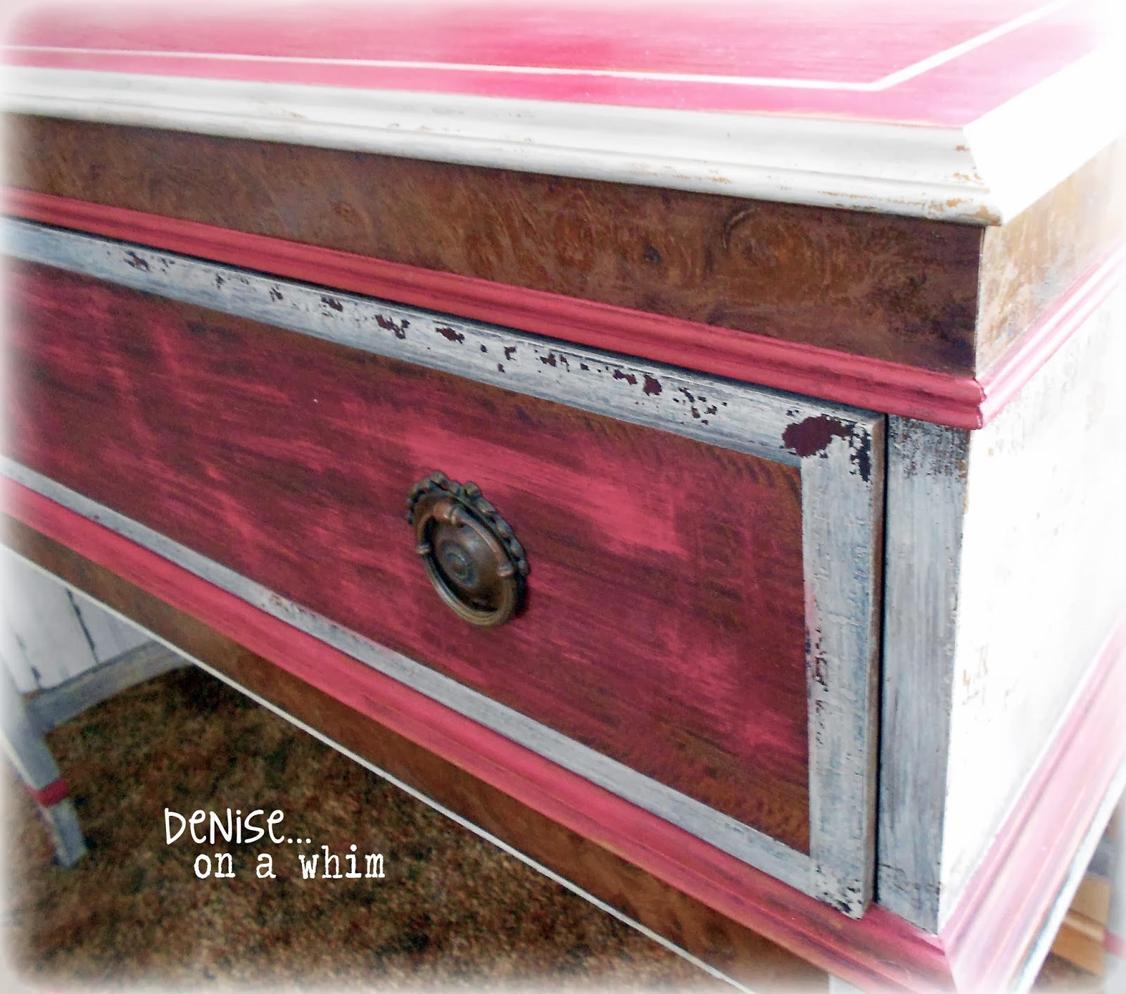 Antique Stand Makeover via http://deniseonawhim.blogspot.com
