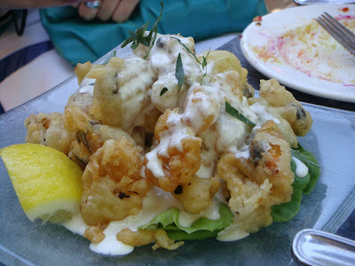 Fried mussels at Oleana, Cambridge, Mass.