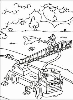 Kostenlose Ausmalbilder und Malvorlagen Feuerwehr zum