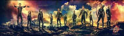 Banner promocional de 'Los Juegos del Hambre: En llamas' con los tributos del Vasallaje de los Veinticinco. Nuevo tráiler en castellano. Making Of
