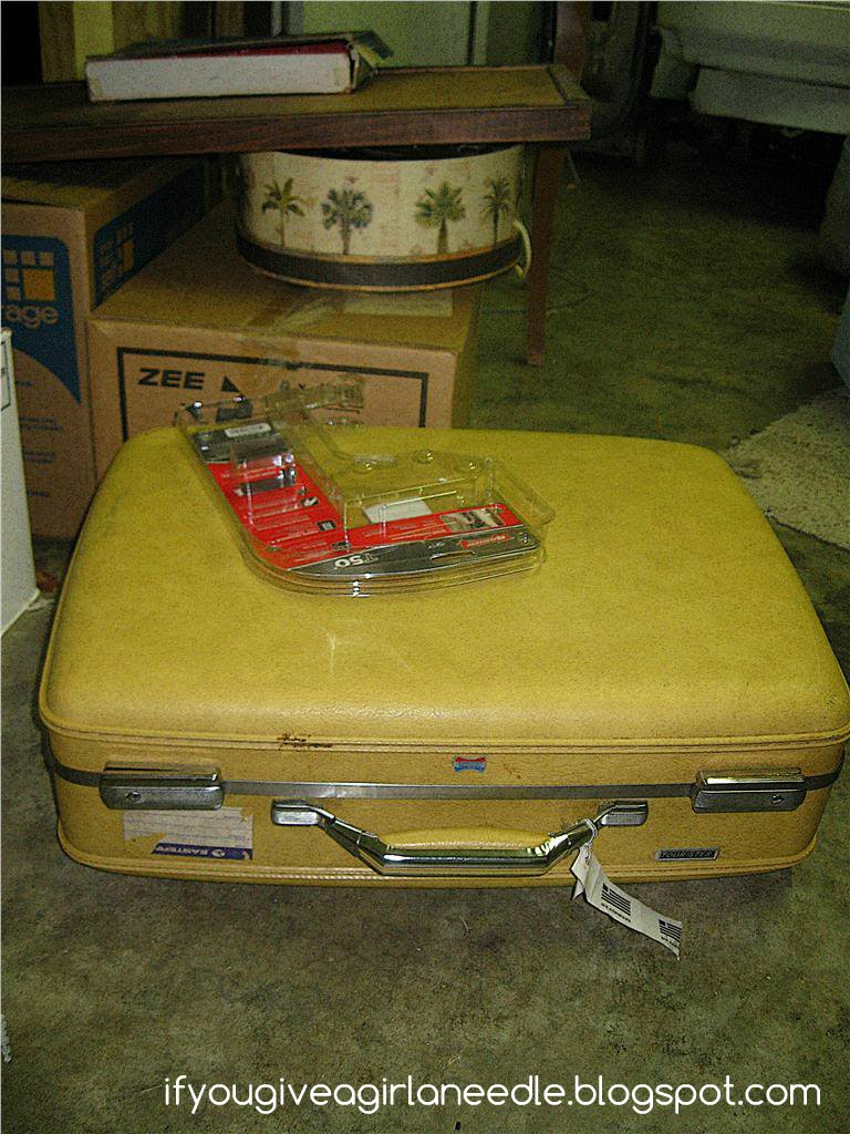 If You Give a Girl a Needle: Suitcase Sidetable (IT IS YELLOW)