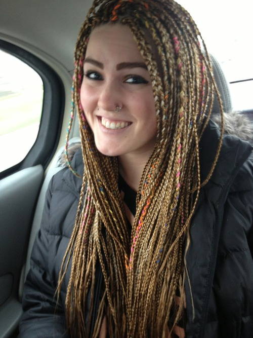 Crochet Hair On White Girl : White girls with braids look silly.. Isnt that what us black girls ...