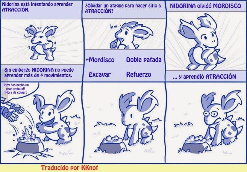 Lógica Pokemon: 'Nidorina olvidó mordisco'