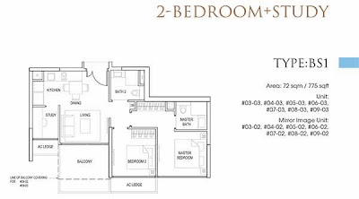 Goodwood Grand 2 bedrooms Floor Plans