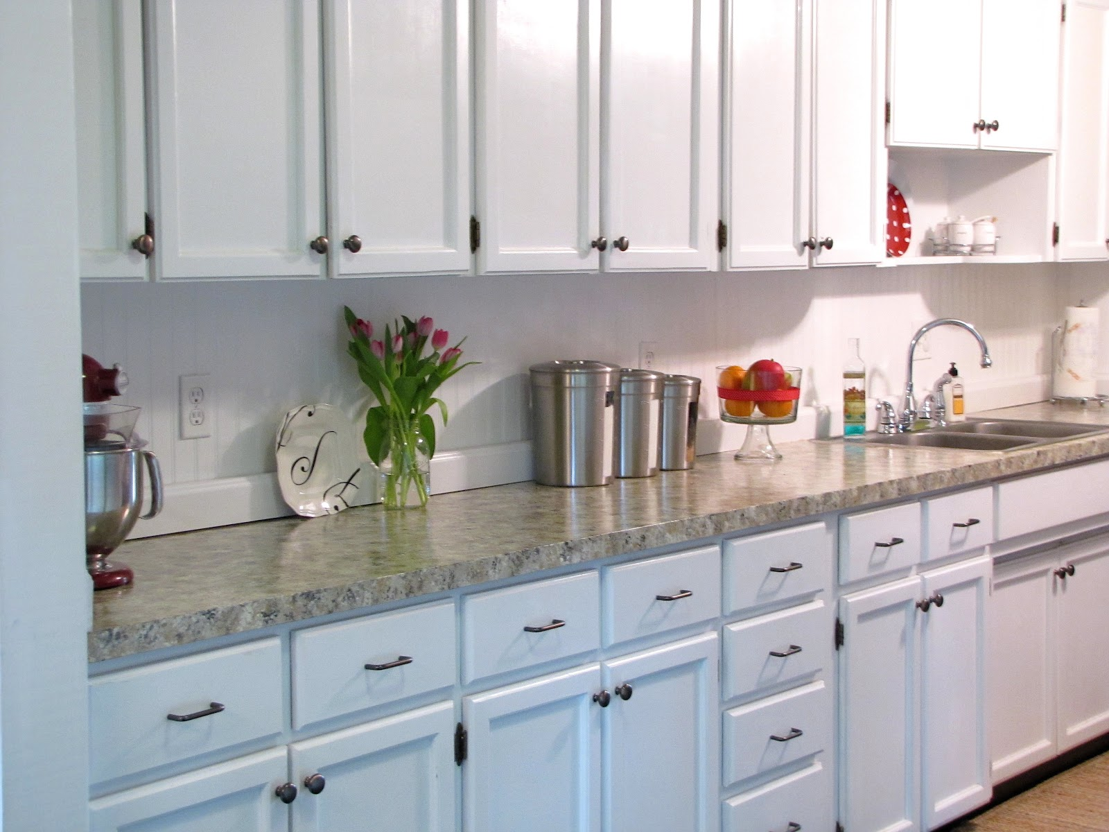 Diy Farmhouse Kitchen Makeover. Beadboard Backsplash