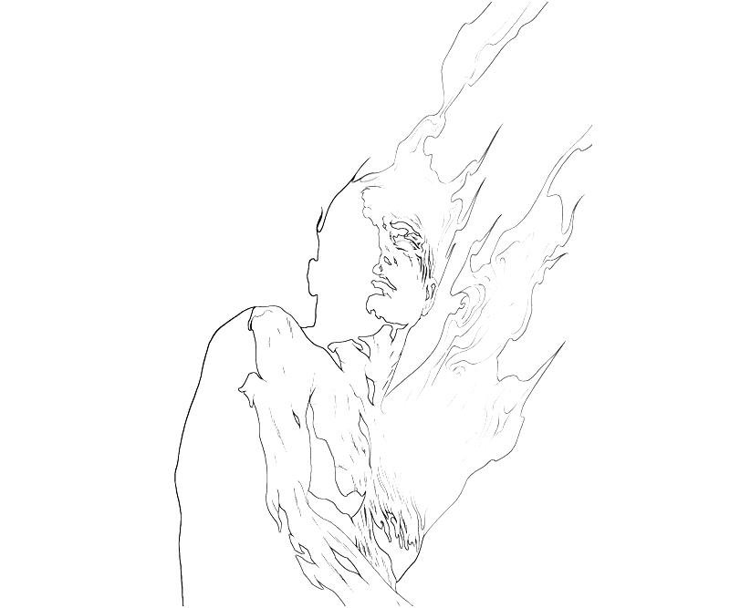 the human torch coloring pages - photo#29