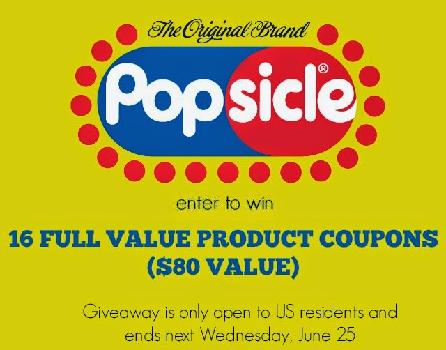 Win 16 full value @popsicle coupons; giveaway ends June 25