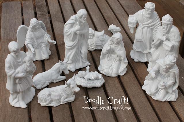 http://www.doodlecraft.blogspot.com/2012/12/porcelain-white-nativity-set.html