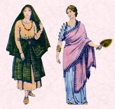 Ancient Roman Clothing For Women 062811 Vector Clip Art Free Clip Art Images