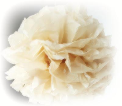 how to do tissue paper pom poms