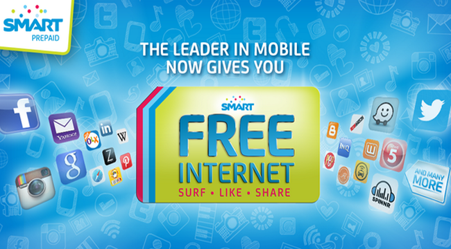Enjoy Smart, Tnt and Sun Free Mobile Internet for All Prepaid Subscriber