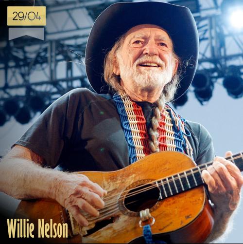 29 de abril | Willie Nelson - @willienelson | Info + vídeos