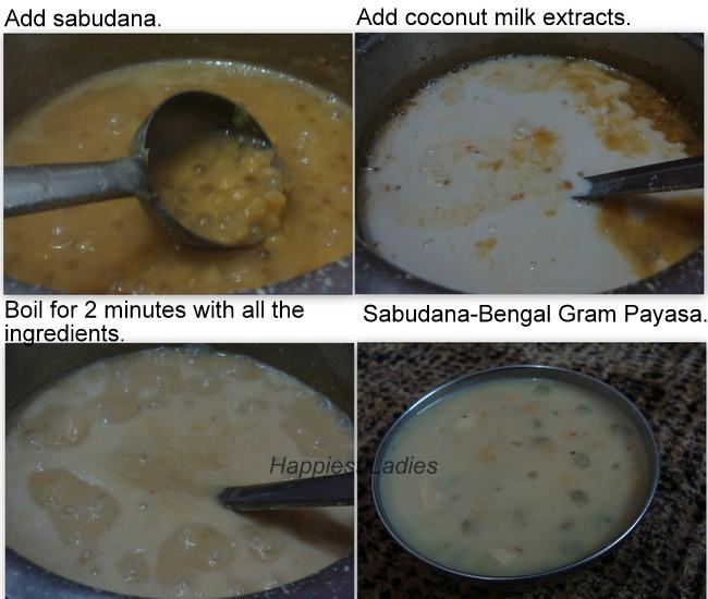 Recipe for Sabudana Bengal Gram Payasa+Indian recipe