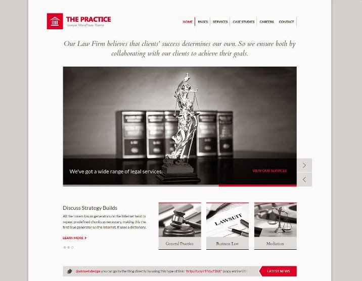 The Practice Lawyer WordPress Theme